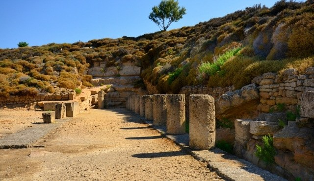The archaeological site of Kabeiroi in Lemnos