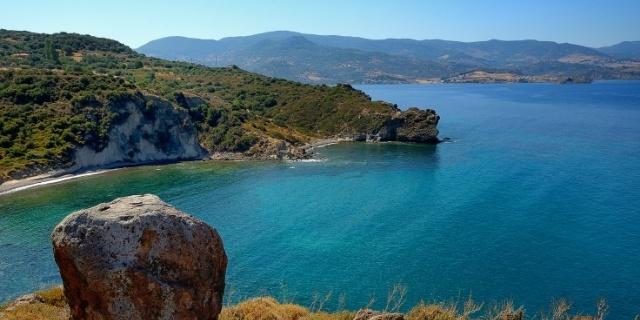 Bay south of Molyvos in Lesbos