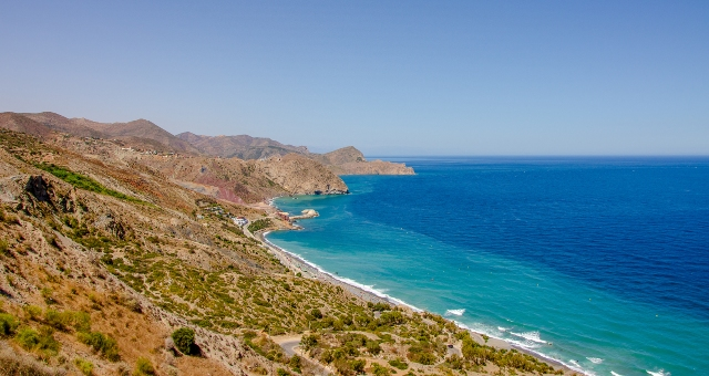 Beach in Al Hoceima, Morocco, mountains, sea, port, ferry tickets to Motril
