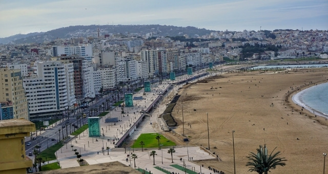 The coastal town of Tangier