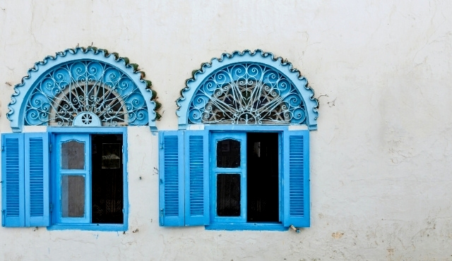 tangier, tanger, blue windows, architecture, arab, morocco, building