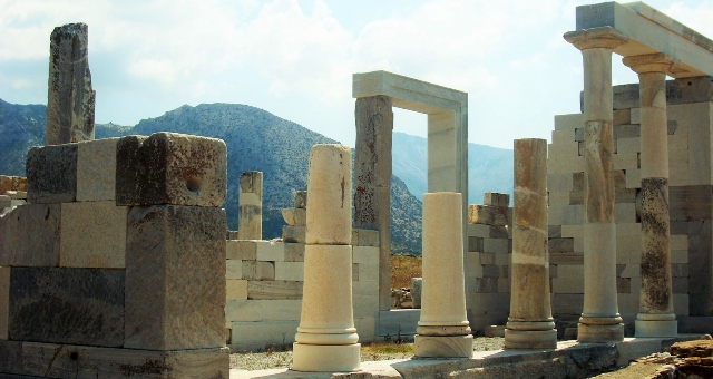 The archaeological ruins of Delos, Mykonos, Cyclades, sightseeing, holidays, ferry tickets Greek islands