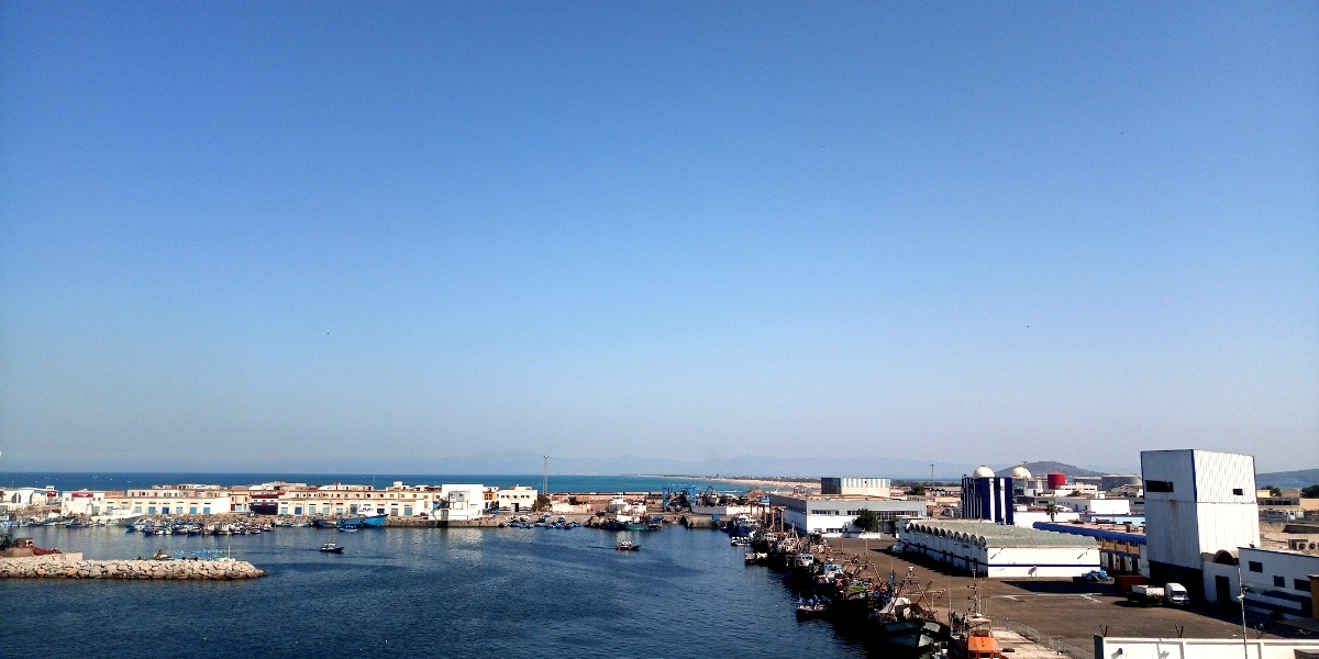 port of nador, morocco, mediterranean, ferry from nador, blue sea