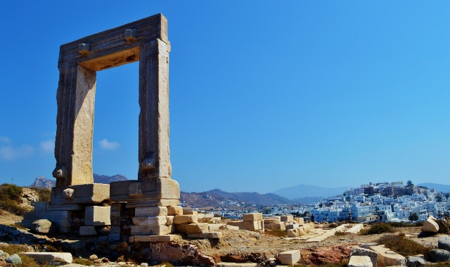 monument, Portara, Naxos Town, archeological site