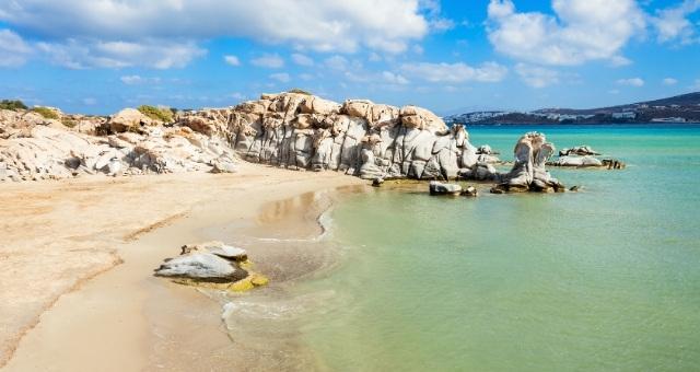 sandy beach in Paros