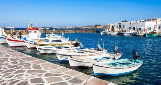 Fishing boats in Paros