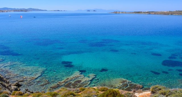 beach, crystal waters, sea, rocks, holidays in Paros, ferry routes