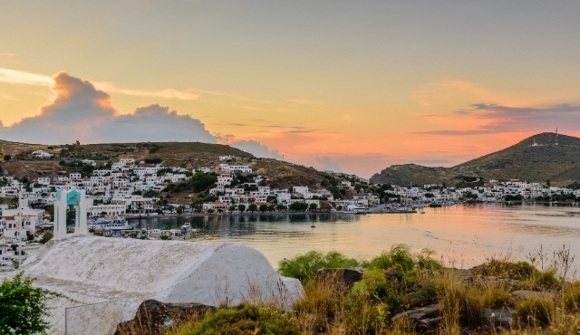 The port of Skala in Patmos