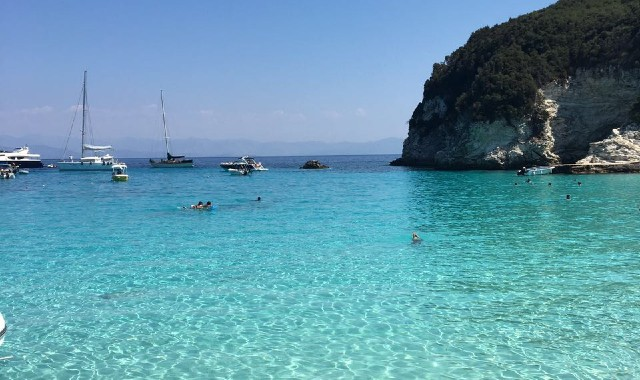Heavenly turquoise waters in Paxos