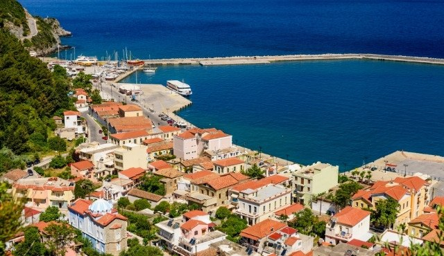 The village and port of Karlovasi in Samos