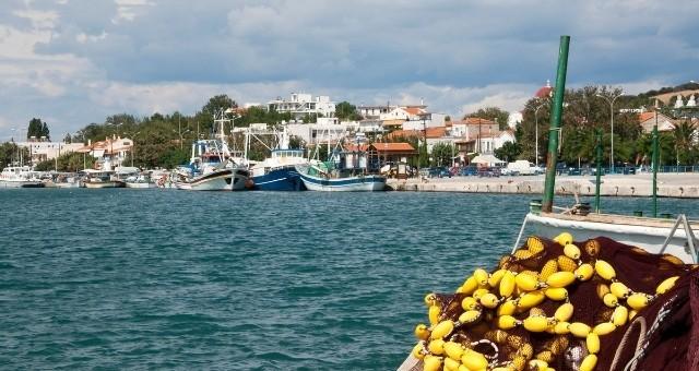 Der Hafen Kamariotissa auf Samothraki
