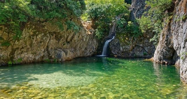 Der natürliche Pool Gria Vathra auf Samothraki