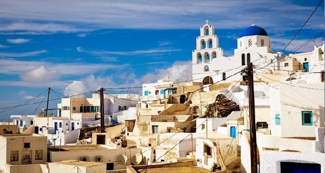 The traditional village of Pyrgos