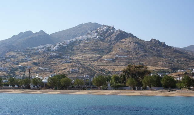 mountain, nature, beach, trees, serifos, cyclades, ferry routes