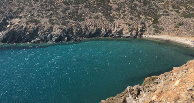The beautiful beach of Vroulidia in Sifnos