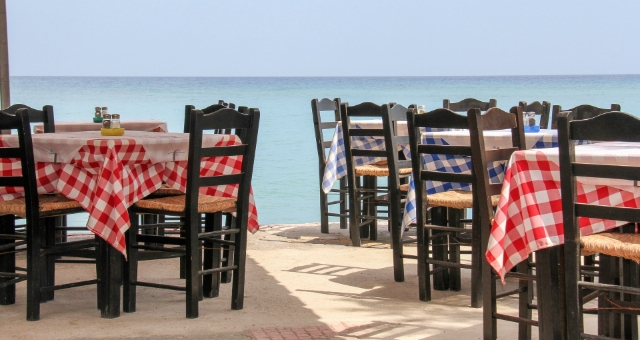 Taverna with sea view in Sitia