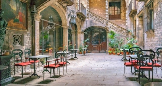 The gothic quarter in Barcelona
