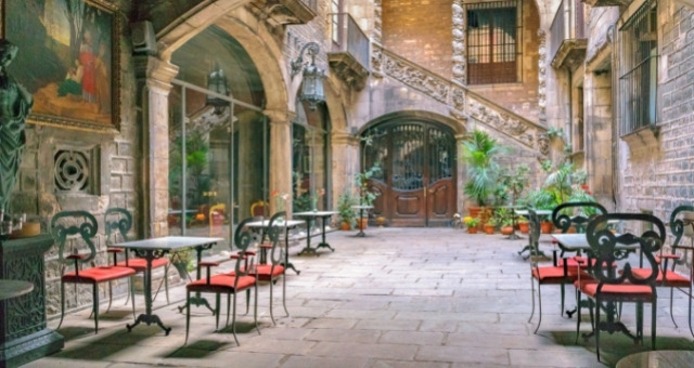 Courtyard in the Gothic Quarter, Barcelona
