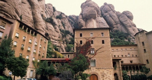 The monastery in Monserrat mountains, close to Barcelona