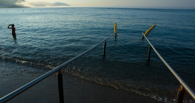 Beach with disabled access in Ceuta