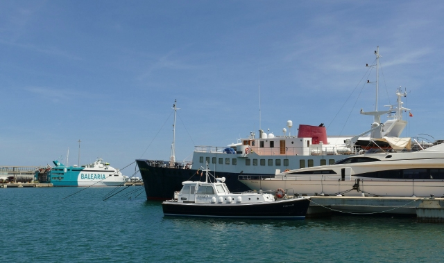 Port, Ferries, Fish boat, Sea, Denia, Ibiza, Ferry routes