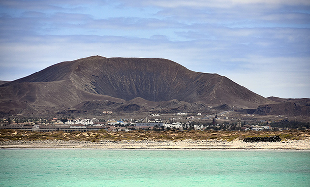 Port, Mountain, Volcano, Landscape, Fuerteventura, Canary Islands, Ferry connection
