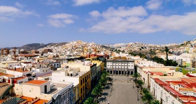 La ville de Las Palmas de Gran Canaria, Espagne