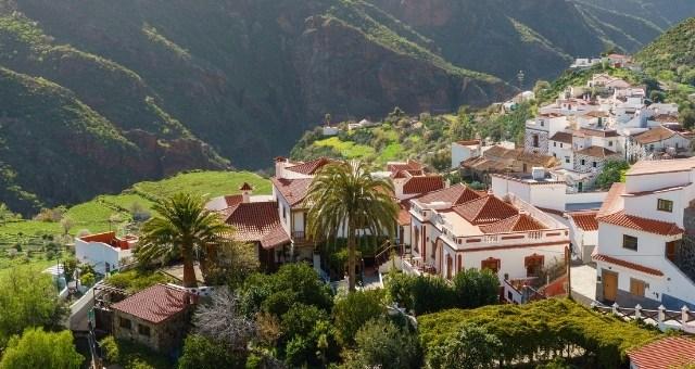 Le village de Tejeda sur les montagnes de Grande Canarie, Espagne