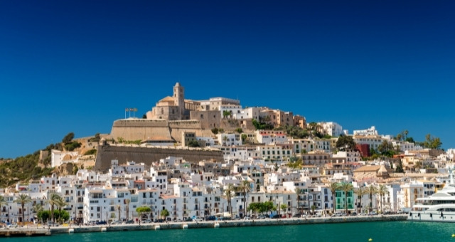 The old town of Ibiza