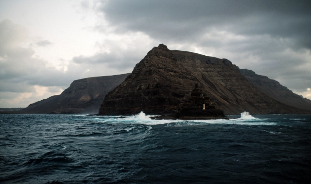 Sea, Waves, Mountain, Natural Beauty, La Graciosa, Lanzarote, Ferry route