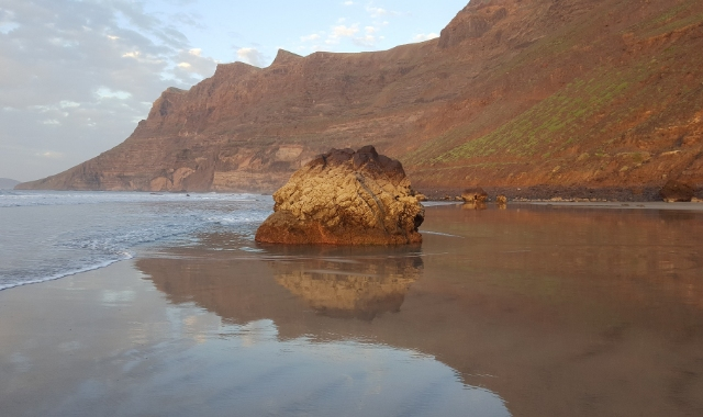 Rock, Beach, Mountain, Lanzarote, Huelva, Ferry trip