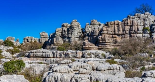 Das Naturschutzgebiet El Torcal in der Region Málaga