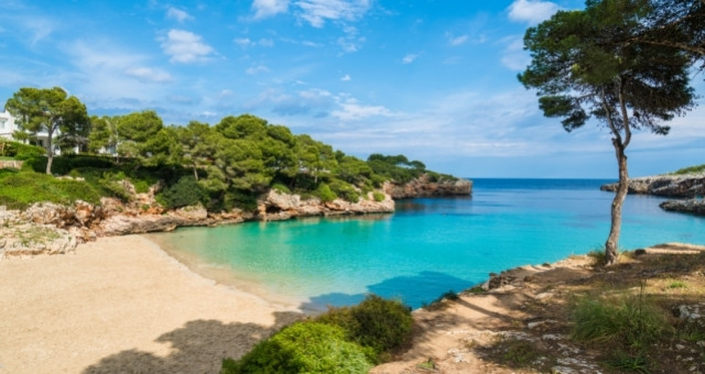 The bay of Cala d'Or in Mallorca