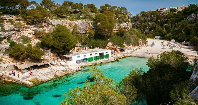The beach of Cala Pi in Mallorca