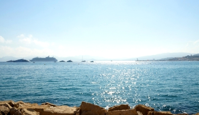 ferry, sea, rocks, mediterranean, trip, blue, coast, spain