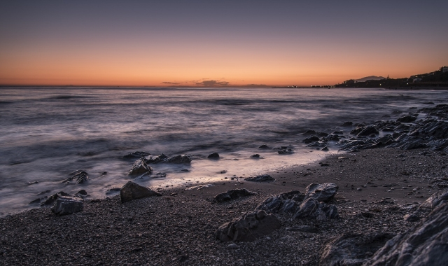 Beach of Calahonda, Rocks, Sea, Sunset, Motril, Andalusia, Ferry tickets