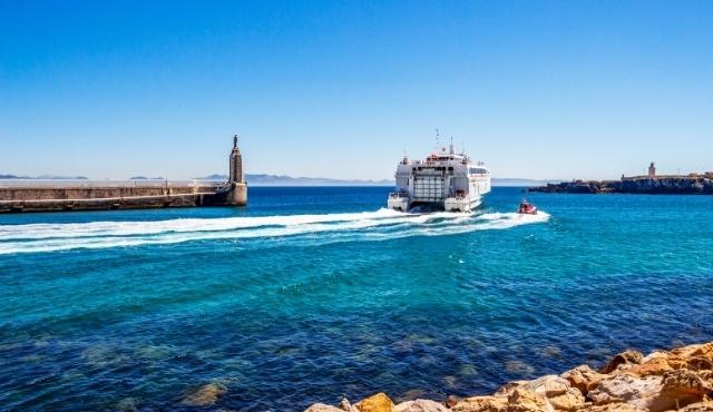 tarifa, port, punta del santo, ferry, blue sea, spain