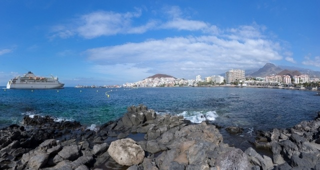 Ferry approaching Los Cristianos Port