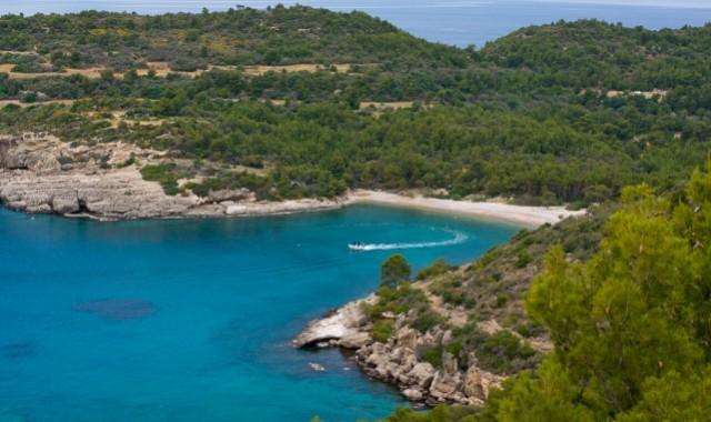 The coast of Spetses