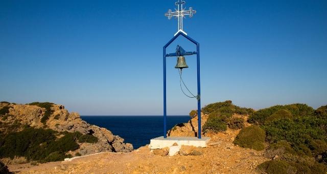 θέα στο Αιγαίο, Τέλενδος, Δωδεκάνησα, θάλασσα, νησί, καμπαναριό