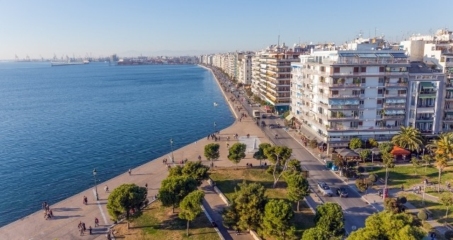 View of the waterfront of Thessaloniki, Greece