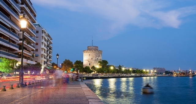 The White Tower and the waterfront in Thessaloniki