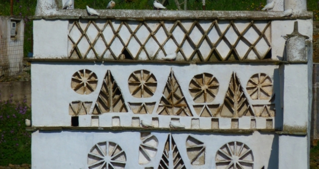 Dovecot, Tinos, white doves, traditional design, architecture, nature, shapes