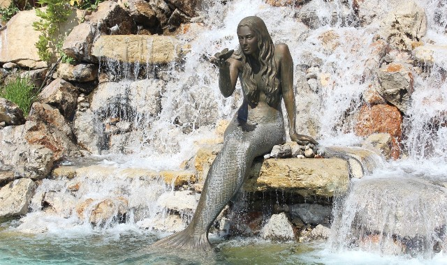 mermaid, statue, fountain, rocks, Marmaris, Turkey, ferry tickets from Rhodes to Turkey