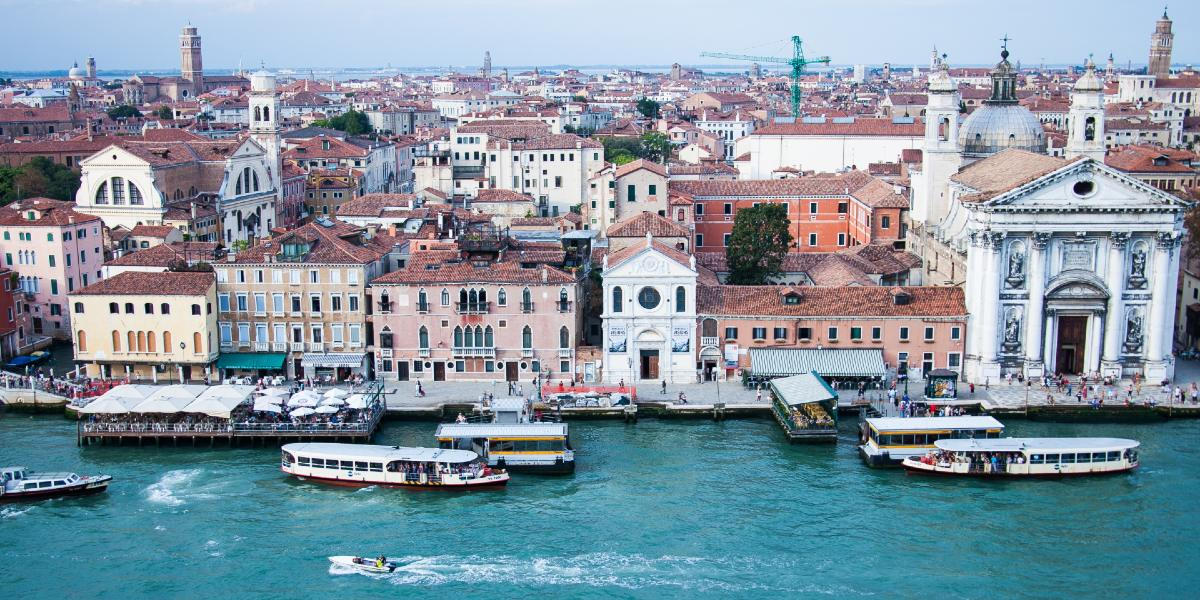 View of the port of Venice, architecture, holidays, Italy, ferry routes to Greece