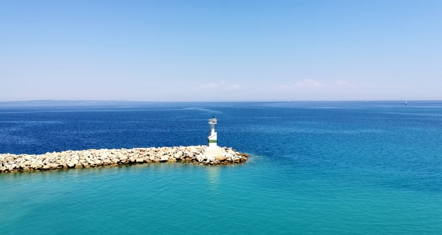 Lighthouse at the port of Zante